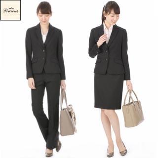 アオヤマ(青山)の青山 n-line Precious 黒無地セットアップスーツ9号 3点セット(スーツ)