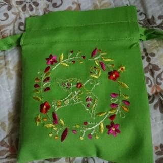 カルディ(KALDI)のカルディ バード巾着袋(ロータスティー入り) ベトナム製(茶)