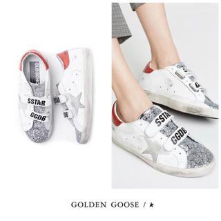 ゴールデングース(GOLDEN GOOSE)の未使用♡GOLDEN GOOSE♡SUPER STAR♡ベルクロスニーカー♡希少(スニーカー)