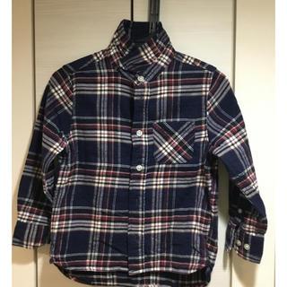 ユニクロ(UNIQLO)のユニクロ キッズシャツ 長袖 110 綿100%(その他)