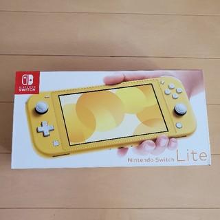 ニンテンドースイッチ(Nintendo Switch)の未使用新品 任天堂 Switch Lite イエロー(携帯用ゲーム機本体)