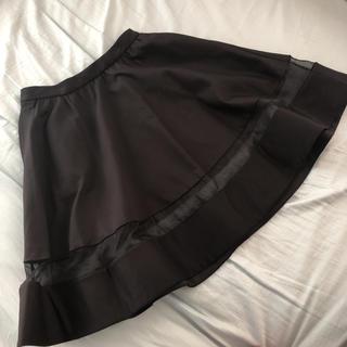 アリスアンドオリビア(Alice+Olivia)のalice +olivia アリスオリビア フレアスカート 黒 ブラック(ひざ丈スカート)