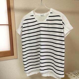 シャツ 半袖  ボーダー(シャツ/ブラウス(半袖/袖なし))