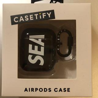 ロンハーマン(Ron Herman)のWINDANDSEA ウインダンシー airpods case 黒(iPhoneケース)