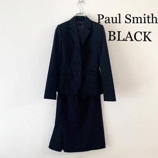 ポールスミス(Paul Smith)の【美品】Paul Smith BLACK スーツスカート 40 ブラック ウール(スーツ)