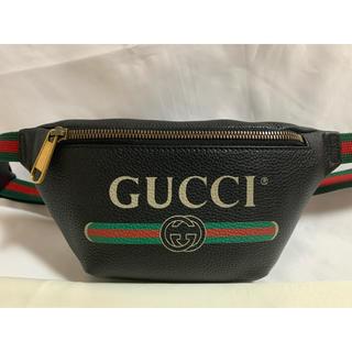 グッチ(Gucci)のGUCCI プリント スモール ベルトバッグ ボディバッグ ショルダーバッグ(ボディーバッグ)