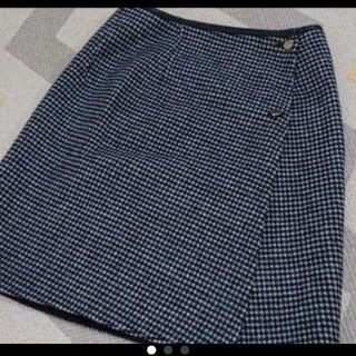 ロペ(ROPE)のROPE リバーシブル スカート 黒 ブラック(ひざ丈スカート)