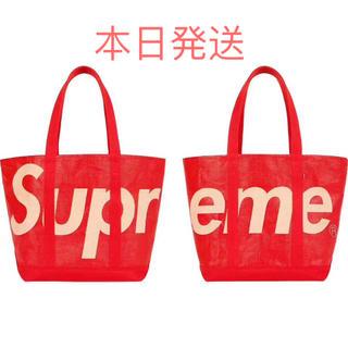 シュプリーム(Supreme)のsupreme Raffia Tote Red(トートバッグ)