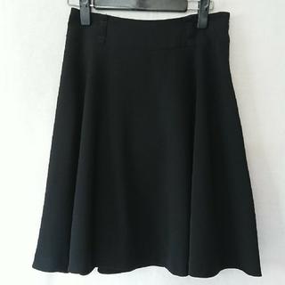 ロペ(ROPE)のロペ(ROPE)  膝丈フレアスカート 黒 〈サイズ36〉(ひざ丈スカート)