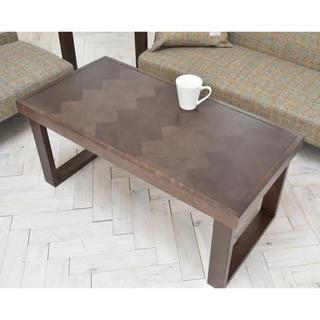 【送料無料】Herringbone Low Table / W Brown(ローテーブル)