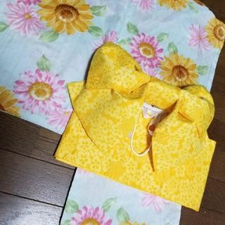 イングファースト(INGNI First)の【送料込】INGNI First 女児浴衣140cm ひまわり(甚平/浴衣)