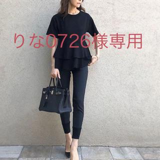 イエナ(IENA)の☆新品、未使用品☆シソラス ティアードカットソー 黒(Tシャツ/カットソー(半袖/袖なし))