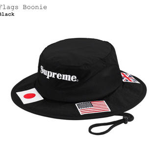 シュプリーム(Supreme)のSupreme Flags Boonie black M/L(ハット)