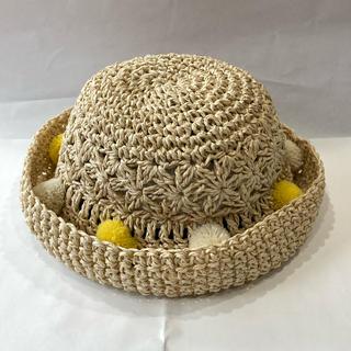 ブランシェス(Branshes)のぽんぽん手編みハット BE52(帽子)