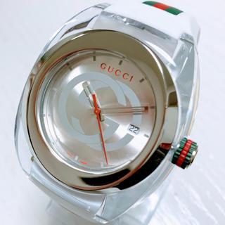 Gucci - ◆即購入OK◆新品◆GUCCI SYNC XXL◆クォーツ 白 メンズ腕時計