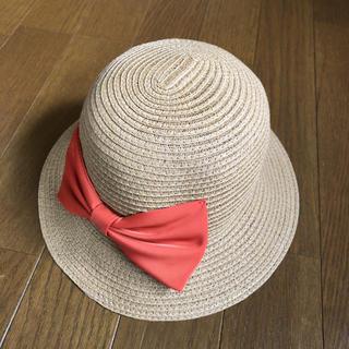 ブランシェス(Branshes)のブランシェス 麦わらリボンハット(帽子)