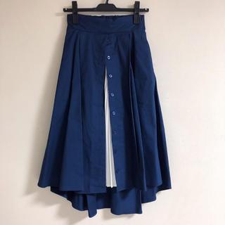 ラグナムーン(LagunaMoon)の【未使用】LAGUNAMOON/ラグナムーン☆プリーツレイヤードフレアースカート(ひざ丈スカート)