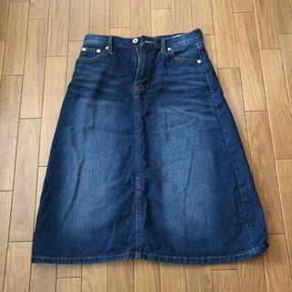 バックナンバー(BACK NUMBER)のBACKNUMBER  ひざ丈デニムスカート Sサイズ(ひざ丈スカート)