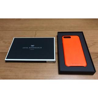 アニヤハインドマーチ(ANYA HINDMARCH)のアニヤハインドマーチ スマホケース iPhone7/8plus オレンジ(その他)