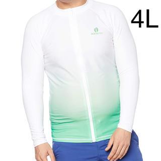 ハンテン(HANG TEN)の新品 水着 ラッシュガード 大きいサイズ 4L メンズ UVジャケット 紳士(その他)