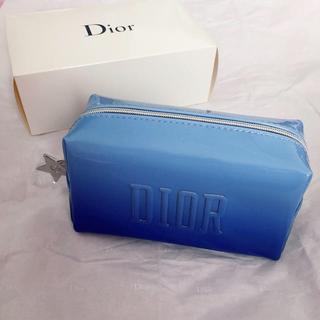 ディオール(Dior)のDior ノベルティ ポーチ ブルー(その他)