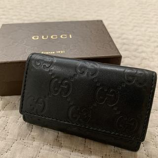 グッチ(Gucci)のほぼ新品 GUCCI キーケース 6連 黒(キーケース)