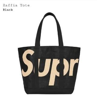 シュプリーム(Supreme)のSupreme Raffia Tote Black シュプリーム トート 黒(トートバッグ)