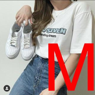 ジーユー(GU)のGU × STUDIO SEVEN コラボ  ビッグT ロゴ(Tシャツ/カットソー(半袖/袖なし))