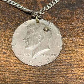 アンプジャパン(amp japan)のケネディコインペンダント アンプジャパン k18 silver(ネックレス)