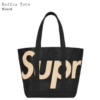シュプリーム(Supreme)のSupreme Raffia Tote Black シュプリーム トート 黒 ②(トートバッグ)