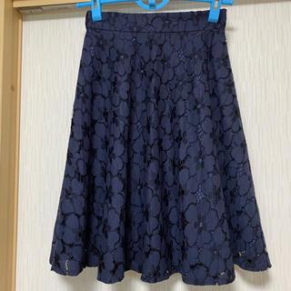 プロポーションボディドレッシング(PROPORTION BODY DRESSING)のプロポーションボディドレッシング お花総レースフレアースカート(ひざ丈スカート)