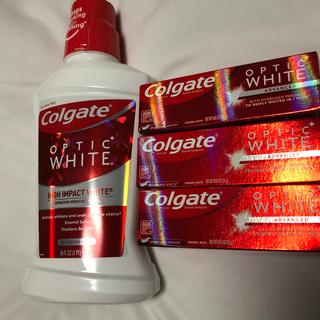 クレスト(Crest)のホワイトニング コルゲート ハイインパクトホワイト 歯磨き粉3個付き!(歯磨き粉)