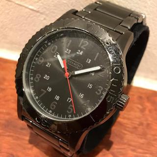 コーチ(COACH)のcoach  コーチ クォーツ 腕時計 コマ付き メンズ ブラック系 稼働品(腕時計(アナログ))