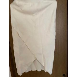 ラグナムーン(LagunaMoon)のLAGUNAMOON スクエアラップニットスカート(ひざ丈スカート)