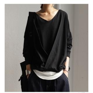 アンティカ(antiqua)のアンティカ トップス ブラック(Tシャツ(長袖/七分))