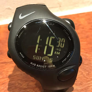 ナイキ(NIKE)のナイキ NIKE デジタルウォッチ 黒 WG40-0010 稼働品 美品(腕時計(デジタル))