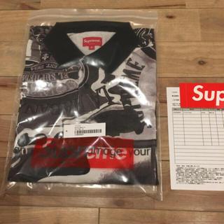 シュプリーム(Supreme)の【Mサイズ】 Supreme Filtre Polo White Black(ポロシャツ)