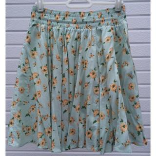 プーラフリーム(pour la frime)のプーラフリームの花柄スカート(ひざ丈スカート)