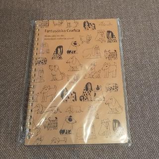 リサラーソン(Lisa Larson)のリサ・ラーソン 新品 A5 リング ノート スケッチいぬたち(ノート/メモ帳/ふせん)