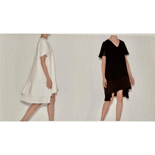 BARNEYS NEW YORK - ☆ヨーコチャン YOKO CHAN V-neck A-Line Dress 36