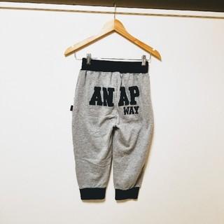 アナップキッズ(ANAP Kids)のANAP◆アナップ デカロゴスウェットハーフパンツ グレー×黒 140(パンツ/スパッツ)