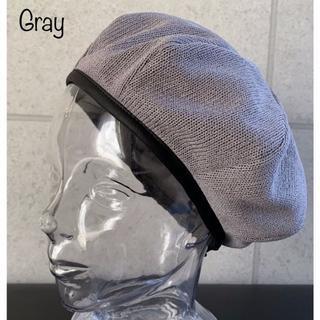 送料込 新品 パイピング ニット ベレー帽 コットン サマー 8枚ハギ 春夏 G(ハンチング/ベレー帽)