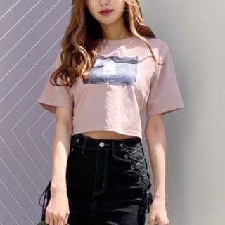 イートミー(EATME)のBACKリボンTシャツ(ピンク)(Tシャツ(半袖/袖なし))