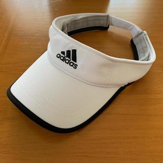 アディダス(adidas)のジジィ様専用 adidas ベーシックサンバイザー ホワイト×ブラック(サンバイザー)
