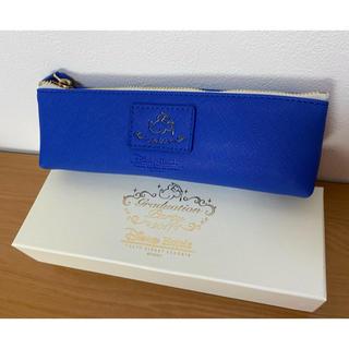 ディズニー(Disney)の非売品 ディズニーランドホテル ペンケース 青色(ペンケース/筆箱)