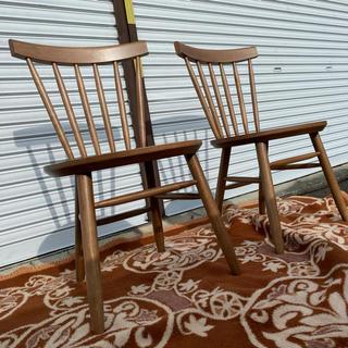 ニトリ(ニトリ)のほぼ未使用 2脚セット ニトリ製 ダイニングチェア ナッツ 椅子 NUTS(ダイニングチェア)