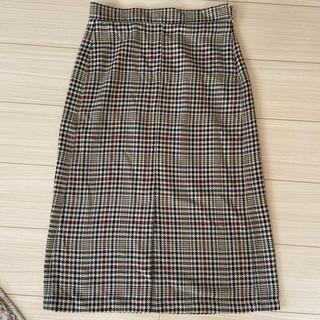GU - GU チェックタイトスカート