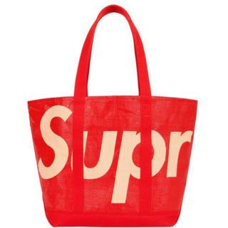 シュプリーム(Supreme)の【新品・未使用】supreme Raffia Tote red 赤トートバッグ (その他)