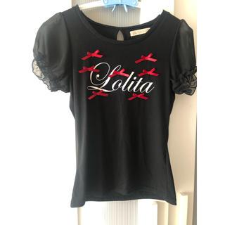 アンクルージュ(Ank Rouge)のリボン付きTシャツ(Tシャツ(半袖/袖なし))