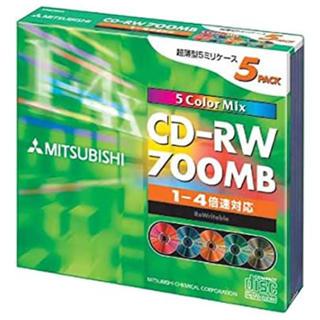 ミツビシ(三菱)のCD-RW 5枚入 三菱700MB(PC周辺機器)